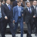 Президент Украины В. Ф.  Янукович и Президент России Д. А. Медведев
