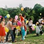 Праздник Миллион воздушных шариков. Начало, памятник Влюбленным