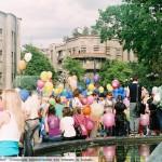 Праздник Миллион воздушных шариков. Начало, памятник влюбленных