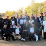 Харьковский зимний купальный сезон помогали открывать «моржи» из других городов Украины