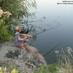 Любимое сельское молодежное занятие - рыбалка