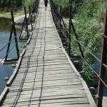 """Пешеходный мостик """"Кладка"""" через реку Мертвовод"""
